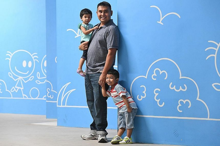 When Mr Richard Lee and Ms Krisa Qiu's baby was born, they wanted to establish their own ways of caring for the child instead of listening to conflicting advice from parents, in-laws and healthcare professionals. Mr Mohamad Nizam Vanderbeek and his c