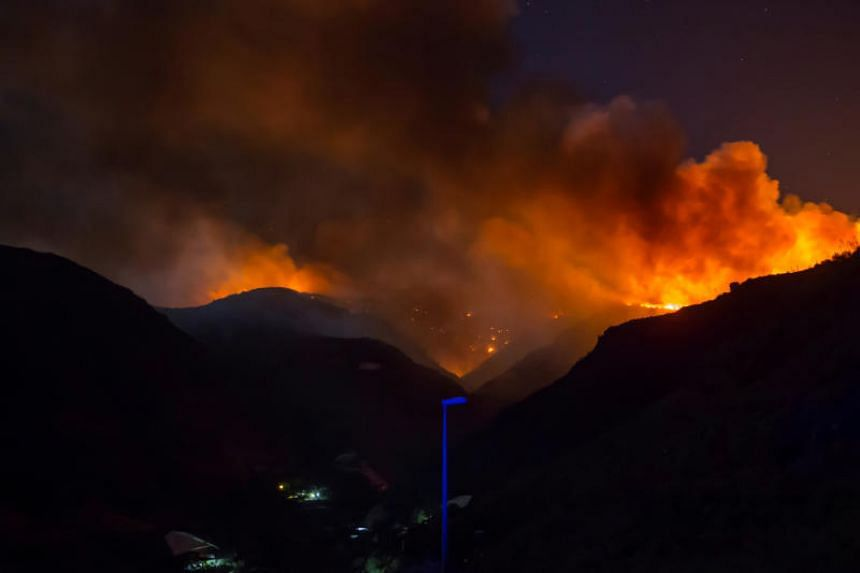 The blaze comes just five days after firefighters managed to contain a fire in the same area of the Canary Islands archipelago that had sparked the evacuation of hundreds of people.