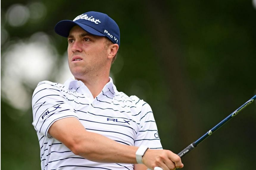 Justin Thomas started his round with five successive birdies, and later recorded a tap-in eagle at the par-five 10th after a precise five-wood approach shot.