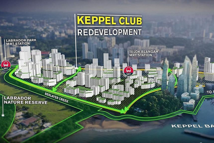 An artist's impression of what the redeveloped Keppel Club site may look like. The lease of the private golf club, which sits on a 44ha plot, expires in two years.