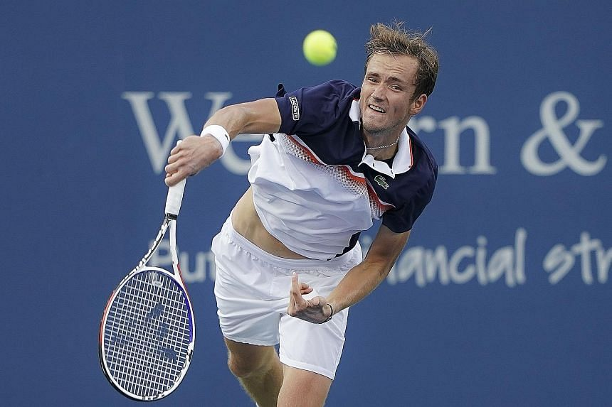 After losing the first set, Daniil Medvedev changed his approach midway through the second, going for broke with pretty much every shot, particularly on second serve, to beat Novak Djokovic in their semi-final match at the Cincinnati Masters on Satur