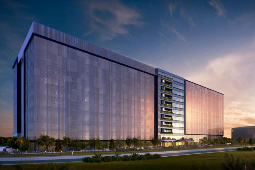 An artist's impression of Facebook's new data centre in Singapore, which is slated to open in 2022.