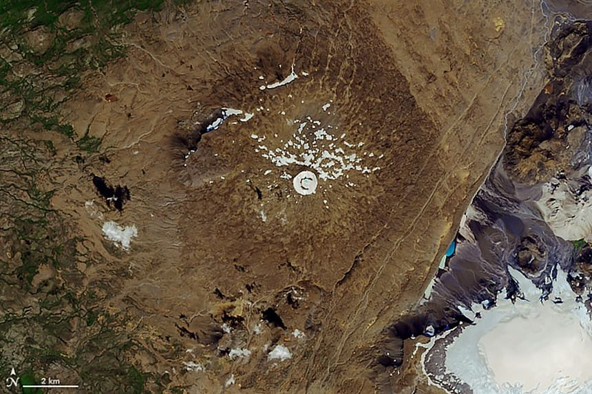 An image taken on Aug 1 showing where the glacier had melted away throughout the 20th century.