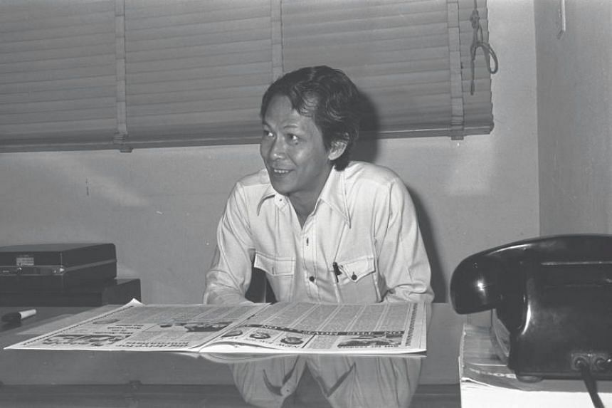 Mr Ambrose Khaw, former editor of The Singapore Herald, at his office.