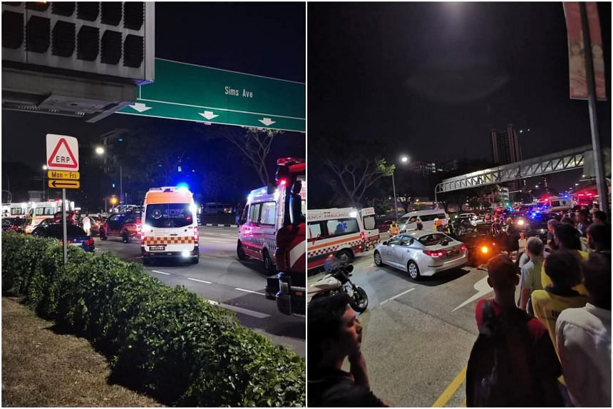 The accident happened at the junction of Sims Avenue and Sims Way at about 7pm on Aug 19.