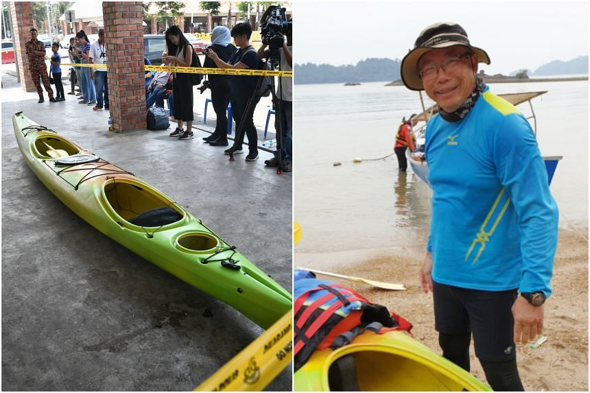 Singaporean Tan Eng Soon, 62, went missing during a kayaking session off the waters of Mersing, Johor, on Aug 8.