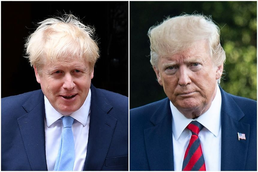 British Prime Minister Boris Johnson (left) and US President Donald Trump talked about Brexit and how they can move rapidly on a US-UK free trade deal.
