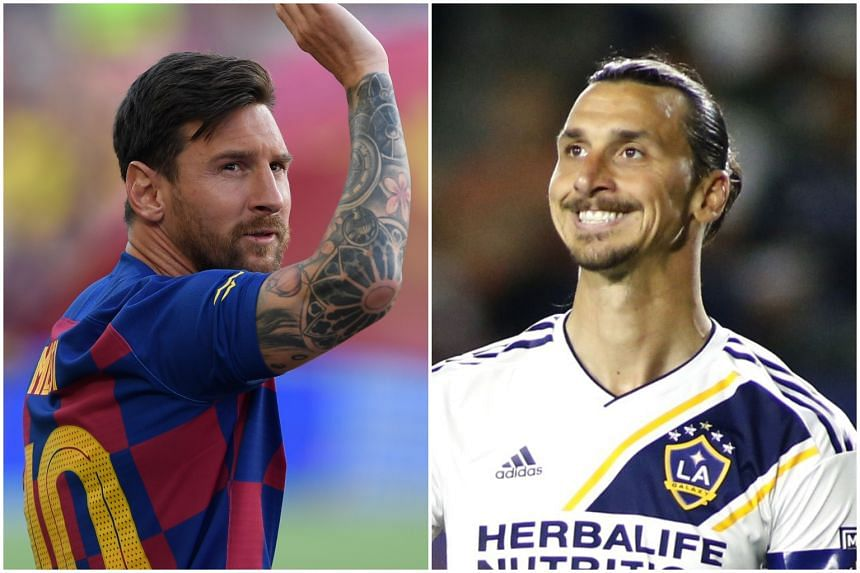 Lionel Messi earned a seventh nomination with a delicate chip for Barcelona while Zlatan Ibrahimovic netted with a balletic volley for LA Galaxy.