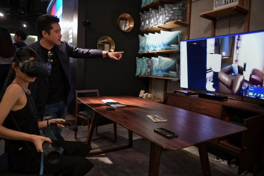 The app uses the phone's camera to scan a room, allowing the user to then place virtual 3D-models of furniture in their own home and view them through their smartphone camera.