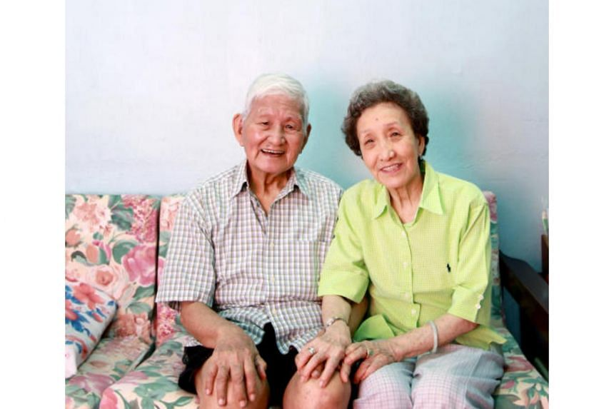 A photo of Bai Yan and and his late wife Ye Qing, taken in 2010.