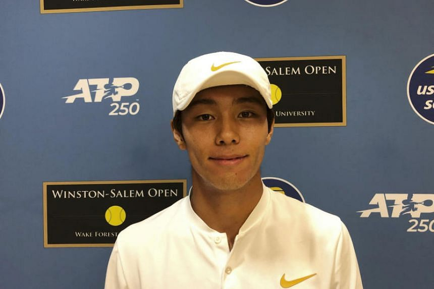 Lee Duck-hee (above) became the first deaf player to win an ATP match after a straight-sets win over Henri Laaksonen in Winston-Salem.