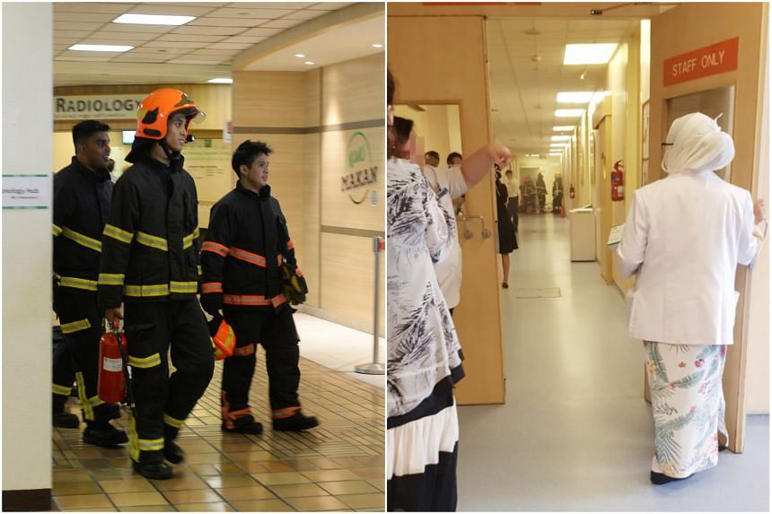 The Singapore Civil Defence Force responded to a fire at 1 Hospital Drive, at the basement 1 level of Block 2, at 1.50pm on Aug 19.