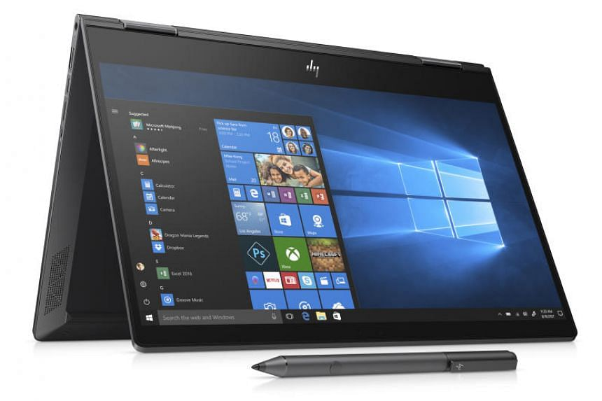 The latest Envy x360 is an all-aluminium and glass affair that is relatively slim at 14.7mm thick and weighs around 1.3kg.