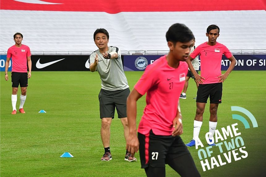 A Singapore national football team training session led by new national coach Tatsuma Yoshida. The Football Association of Singapore is dreaming of having a team at the 2034 World Cup. We discuss in our sports podcast.