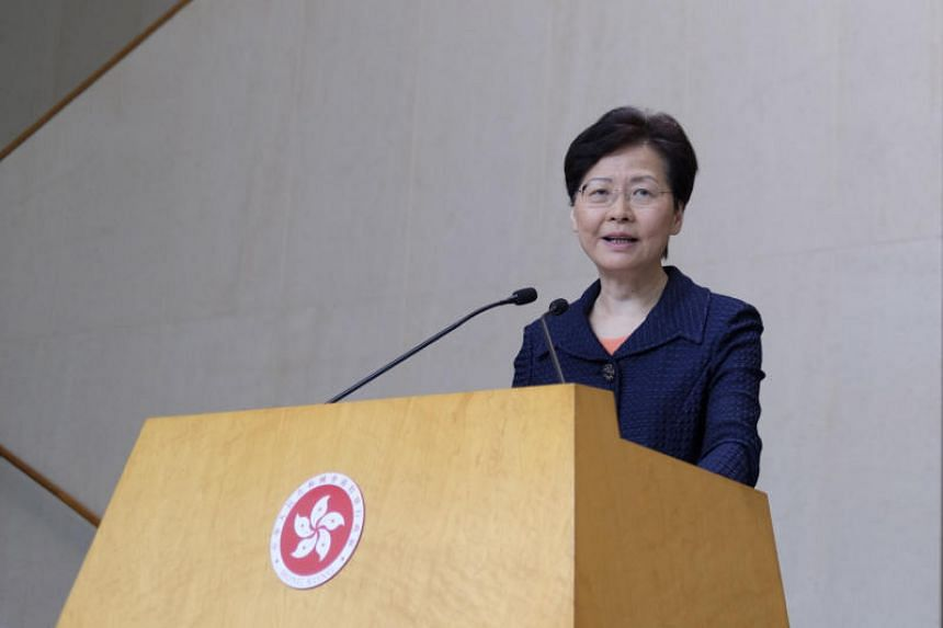 Chief Executive Carrie Lam said the government would immediately set up a platform to hold dialogue with people of all backgrounds.