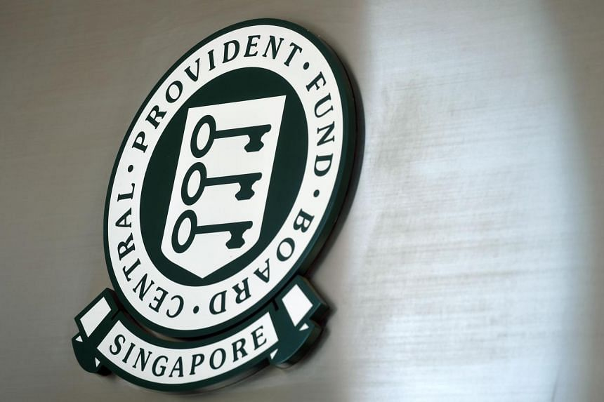 The CPF logo at the CPF Bishan Building.