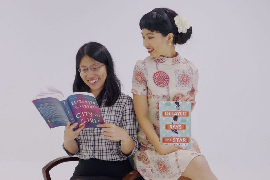 Life journalists Toh Wen Li (left) and Olivia Ho in the latest episode of podcast Bookmark This!