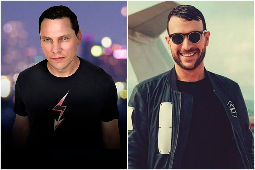 Juggernaut DJs Tiesto (left) and Don Diablo are set to headline the new two-day dance music festival Legacy, which will be held on Sentosa's Siloso Beach on Dec 6 and 7.