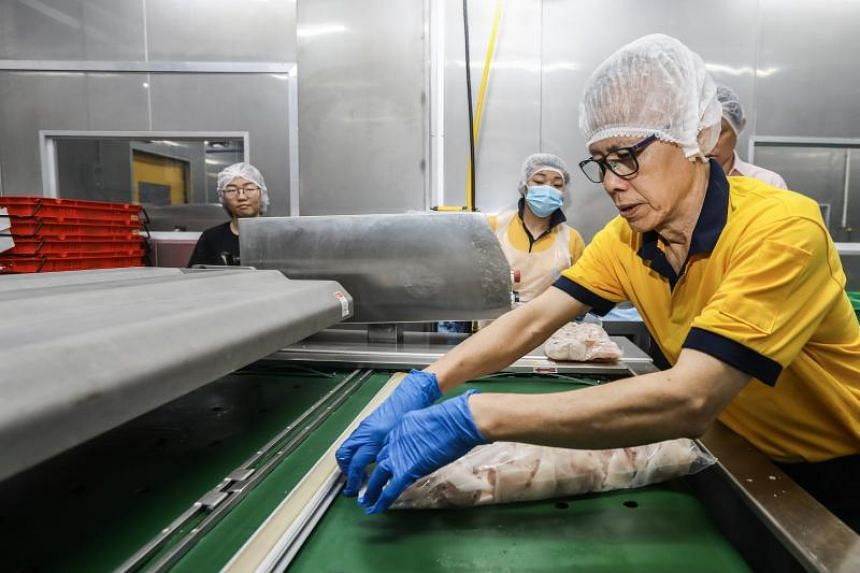 Companies such as wholesale distributor Hai Sia Seafood, in redesigning jobs via automation and new machinery, have helped older workers stay employed and continue contributing to their employers.