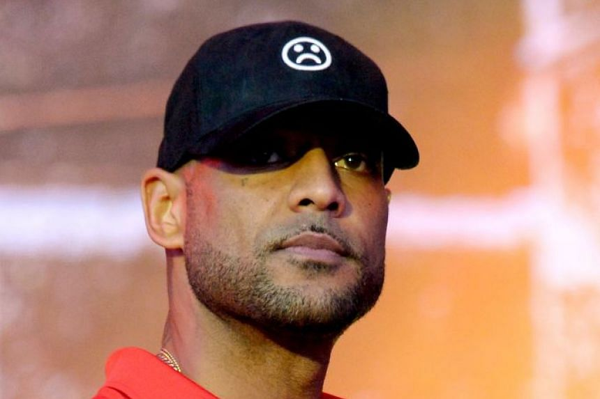 French rapper Booba (above) has been locked in a high-profile feud with fellow rapper Kaaris.