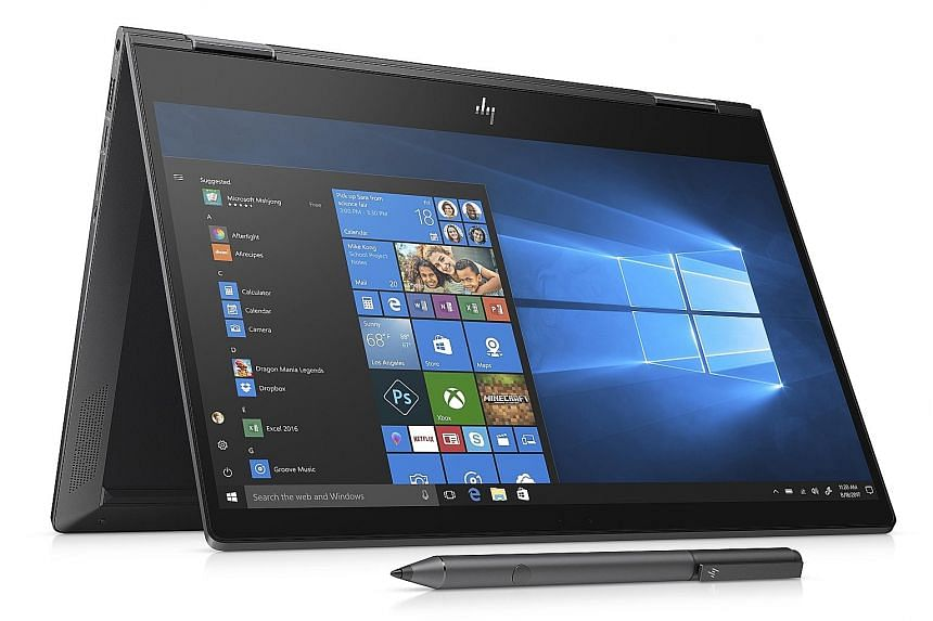 The HP Envy x360 convertible laptop is relatively slim at 14.7mm thick and weighs around 1.3kg.