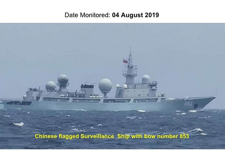 Philippine security officials have reported sightings of Chinese vessels sailing through the country's waters in recent months. PHOTOS: ARMED FORCES OF THE PHILIPPINES