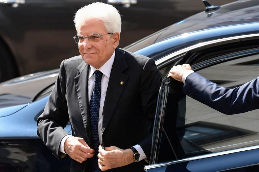 Italian President Sergio Mattarella (above) will give political leaders time to determine whether a new ruling coalition is viable after Prime Minister Giuseppe Conte resigned on Aug 20, 2019.