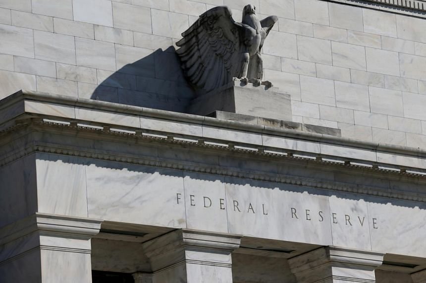 In this photo taken on March 19, 2019, the Federal Reserve Board building on Constitution Avenue is seen in Washington, US.