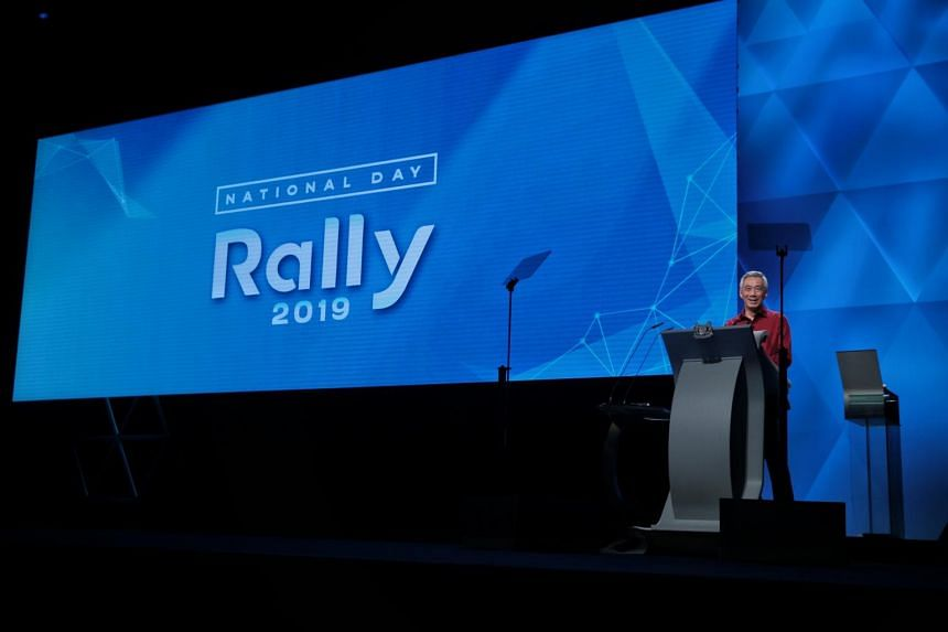 Prime Minister Lee Hsien Loong speaks at the National Day Rally 2019.