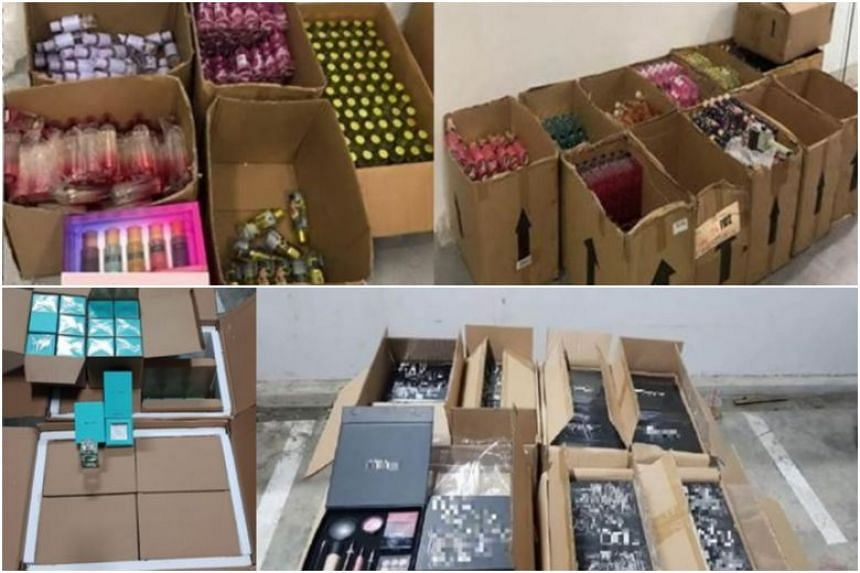 Singapore Customs inspected a consignment of more than 200 perfumes and cosmetic products believed to be counterfeits on July 25.