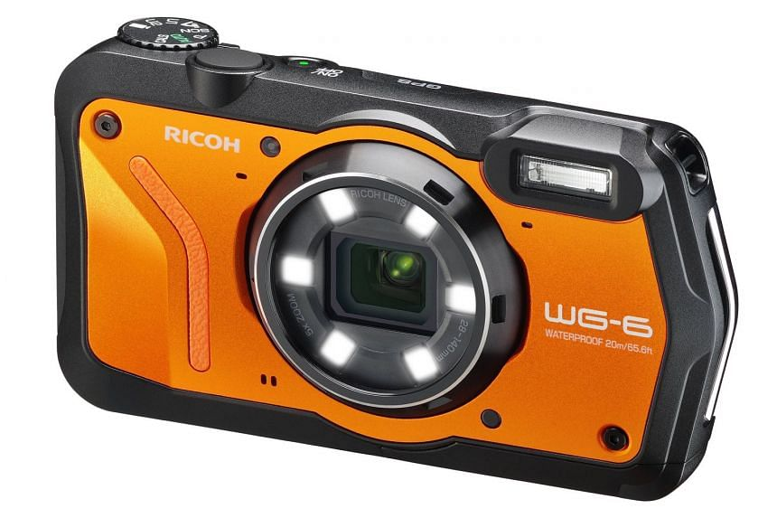 The Ricoh WG-6 comes with a 20-megapixel image sensor, a 5x optical zoom lens (28-140mm f/3.5-5.5), a 3-inch display and built-in GPS.