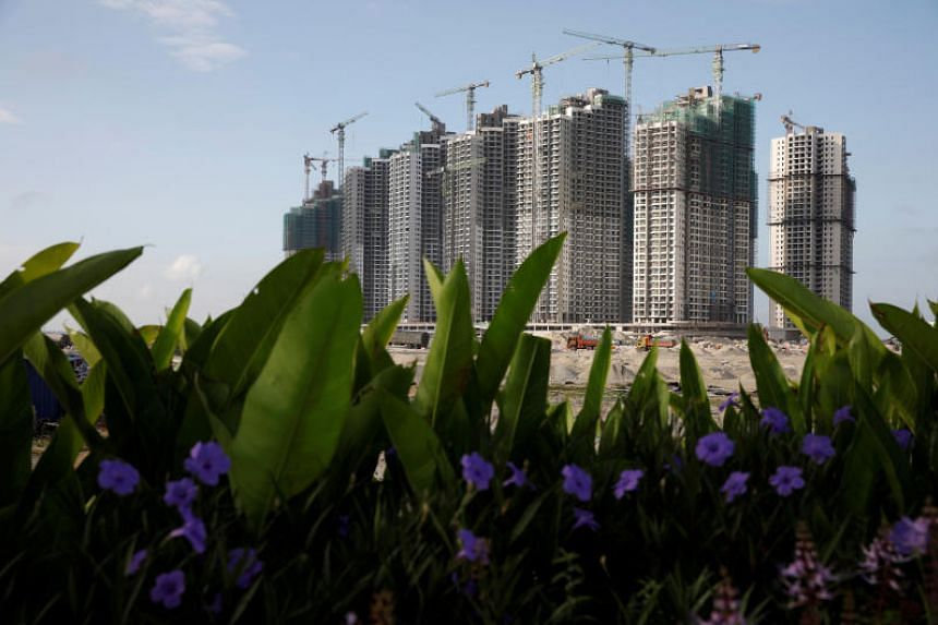 Residential apartments under construction at Forest City in southern Johor, Malaysia, in a photo taken on Feb 26, 2019. Hong Kongers have snapped up about 200 apartments in the development in the past two months