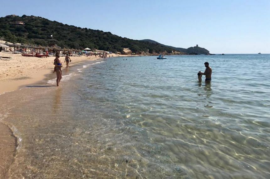 The alleged theft took place in Sardinia, an island known for its picturesque beaches and where the two French citizens had been on vacation.