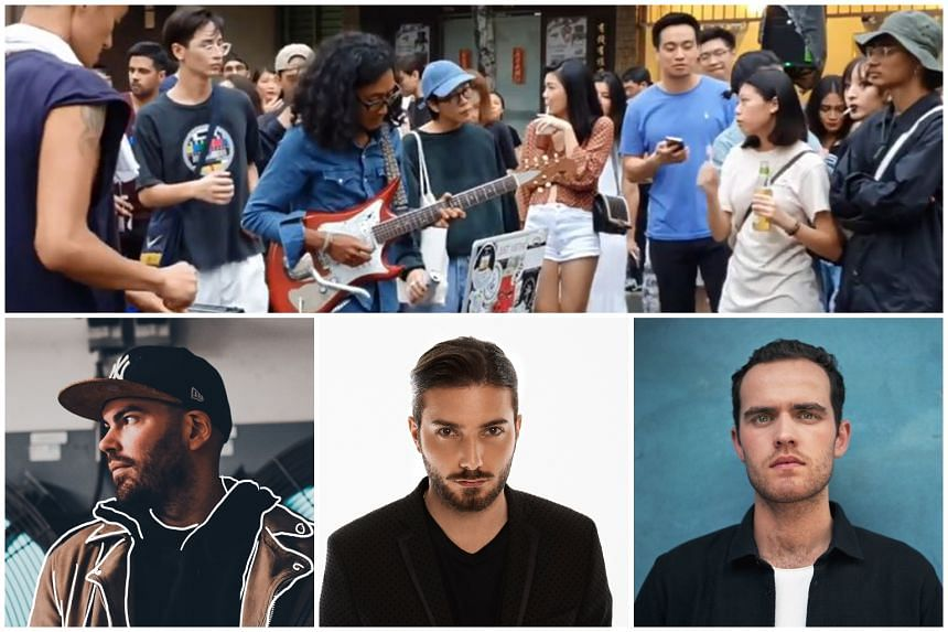 (Clockwise from top) Patrons at DTW x Chye seng Huat present BREW, Vocalist, multi-instrumentalist and producer Jordan Rakei, Alesso, who will be playing at Marquee Singapore and Moti, who will be spinning at Zouk.