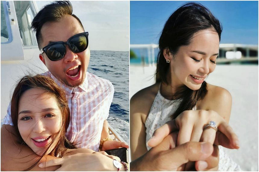 Former radio DJ Daniel Ong successfully proposed to his artist girlfriend Fay Tan while on holiday in Maldives on Aug 21, 2019.