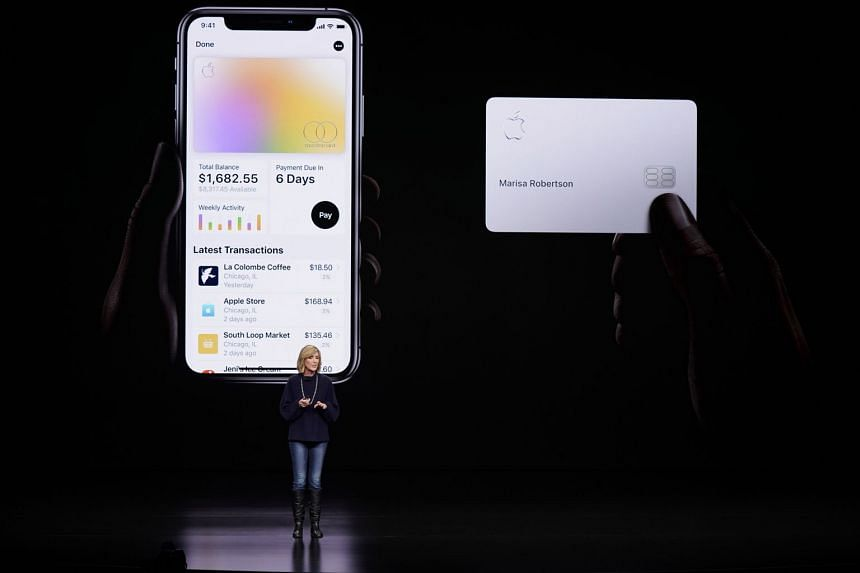 A March 2019 photo shows Apple Pay vice-president Jennifer Bailey speaking about the Apple Card.