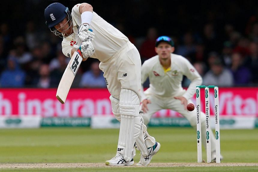 England's Joe Denly plays a shot for four runs during play on the fourth day of the second Ashes cricket Test match between England and Australia at Lord's Cricket Ground in London on Aug 17, 2019.