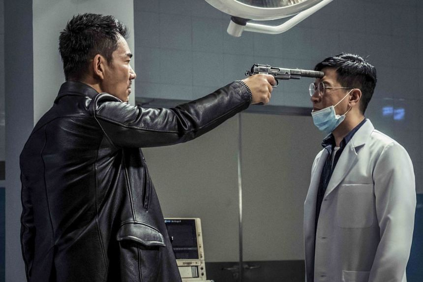 Bodies At Rest stars Richie Jen (left) as a thug who breaks into a morgue for a piece of evidence while Nick Cheung (right) plays a pathologist who tries to stop him.