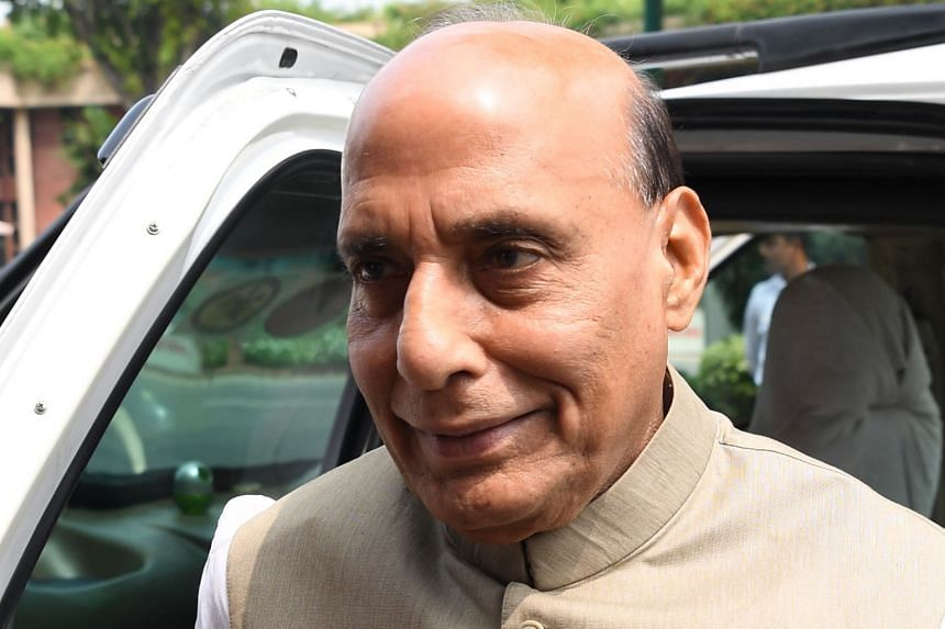 Indian Defence Minister Rajnath Singh.