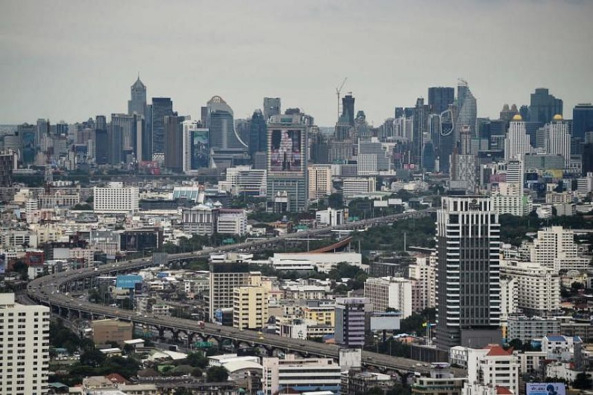 Thailand's economy grew at its weakest pace in nearly five years in the second quarter on declining exports and soft investment.