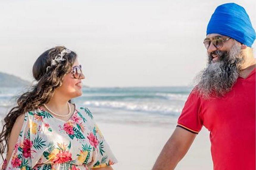 Ms Bandhna Kaur Bajaj and her husband, Mr Amitpal Singh Bajaj. Mr Amitpal was killed on Aug 21 at the Centara Grand Beach Resort in Phuket.
