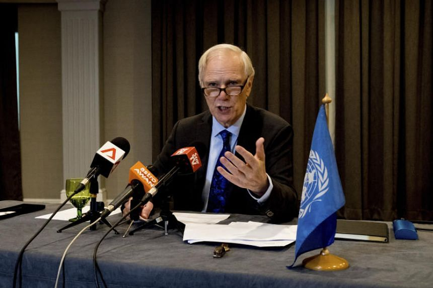 Philip Alston, UN rapporteur on extreme poverty and human rights, speaks during a press conference in Kuala Lumpur. Alston said Malaysia uses an unduly low poverty line that does not reflect the cost of living and excludes vulnerable populations from