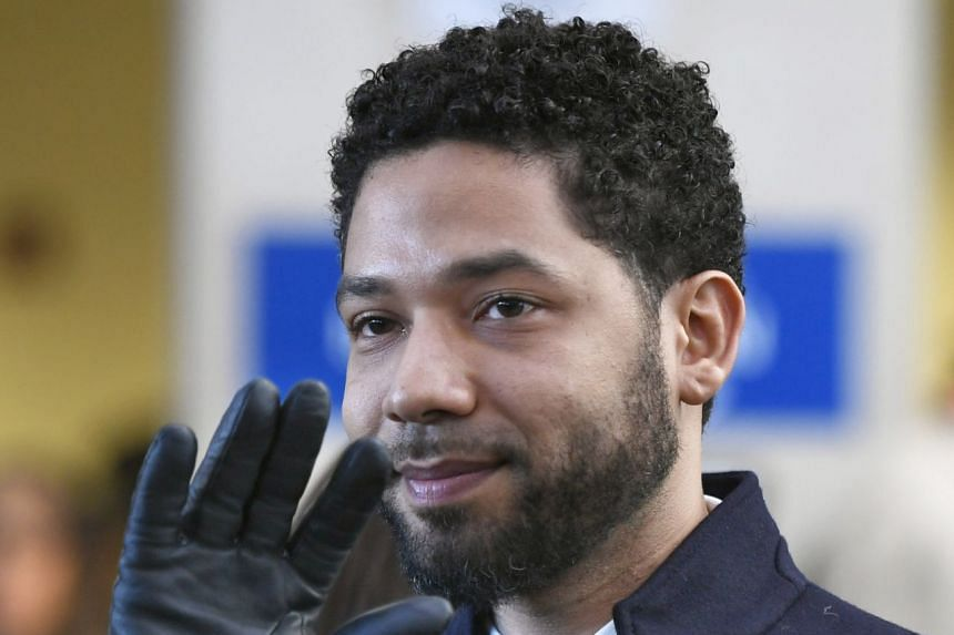 In a March 2019 photo, Smollett leaves court after charges against him were dropped.