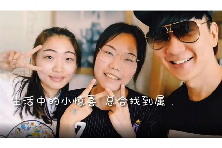 JJ Lin's new song, to be unveiled on Monday, looks at the beauty of unplanned encounters, and on that subject, he posted a video on social media in which he surprises two women at a Taipei cafe (above).
