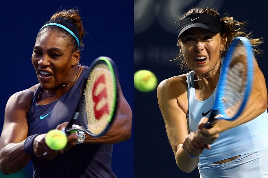Williams (left) has dominated Sharapova in their head-to-head rivalry, winning 19 times with only two defeats.