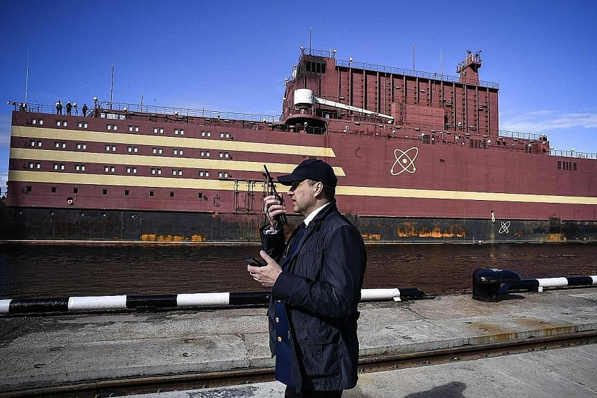 Russia's Akademik Lomonosov, the world's first floating nuclear reactor, is heading to the Siberian region of Chukotka to replace a local nuclear plant and a closed coal plant.