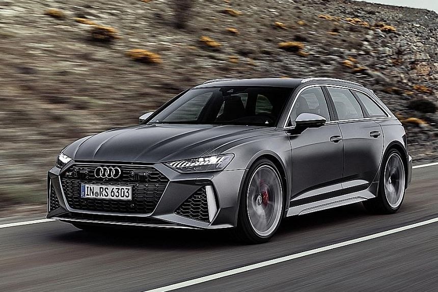 Audi has taken the wraps off the latest RS6 Avant (above).