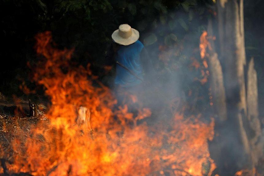 Raging fires in parts of the world's largest tropical rainforest have sparked global concern and put the pressure on Brazil. President Jair Bolsonaro of Brazil said yesterday that the army could be deployed to tackle the Amazon blaze. The Group of Se