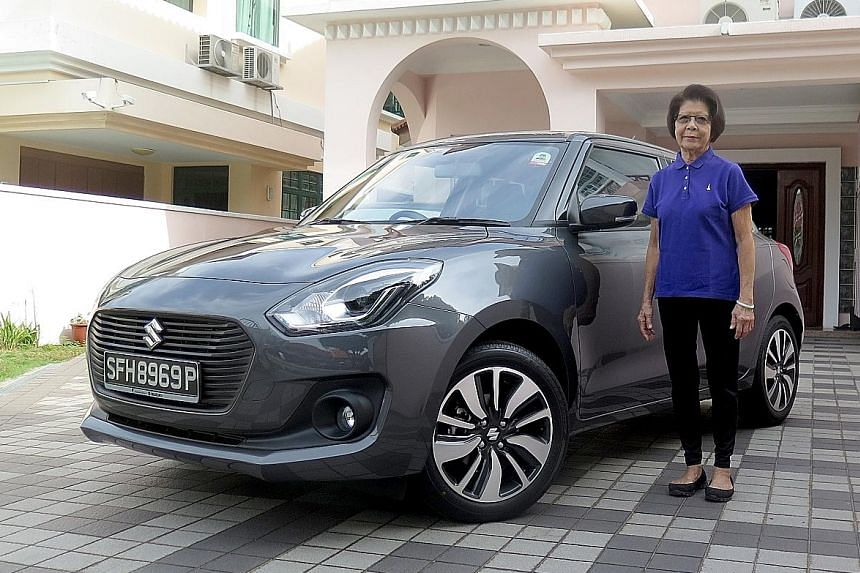 Madam Merry Poh likes the Suzuki Swift for its ample rear storage space and because it is easy to manoeuvre.