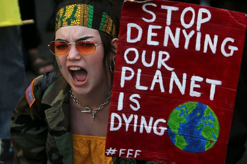 A protester takes part in a demonstration outside the Brazilian embassy in London calling on Brazil to protect the Amazon rainforest from deforestation and fire.